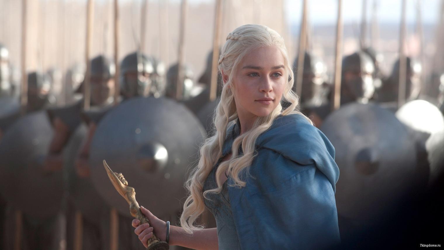 Il personaggio di Daenerys intepretato da Emilia Clarke