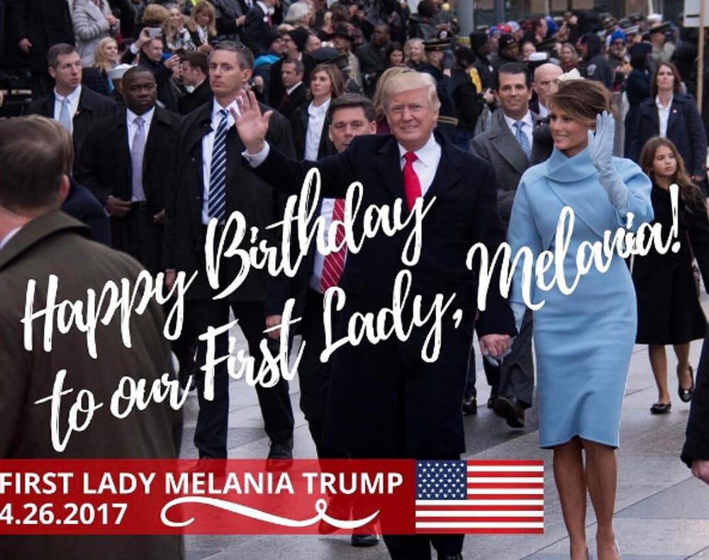 Auguri di compleanno ufficiali per Melania