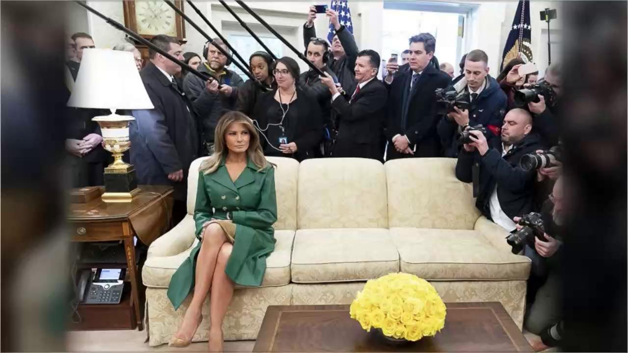 Melania Trump nello Studio Ovale