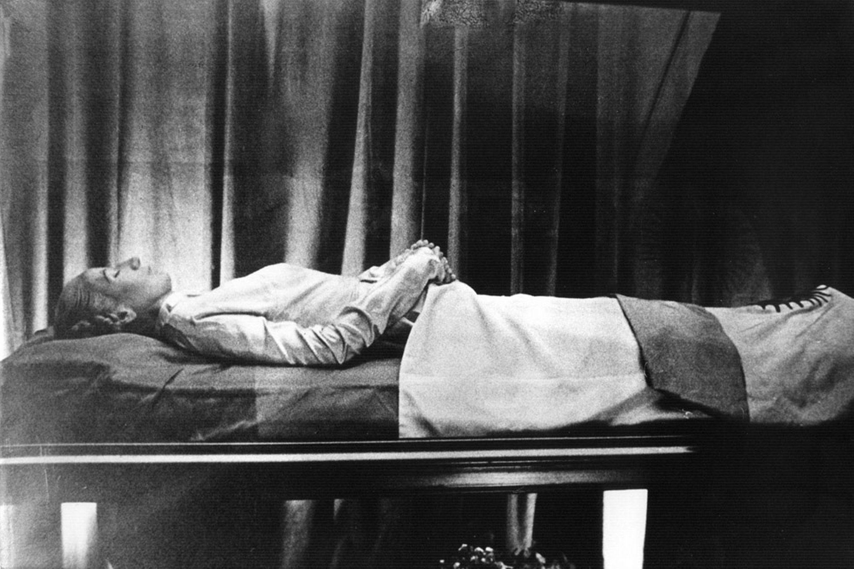 Evita sul letto di morte